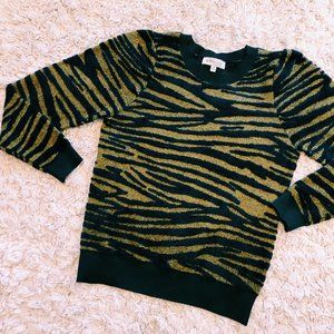 Philosophy Animal Print Cozy Crewneck Sweater